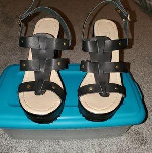 Strappy sandal heels